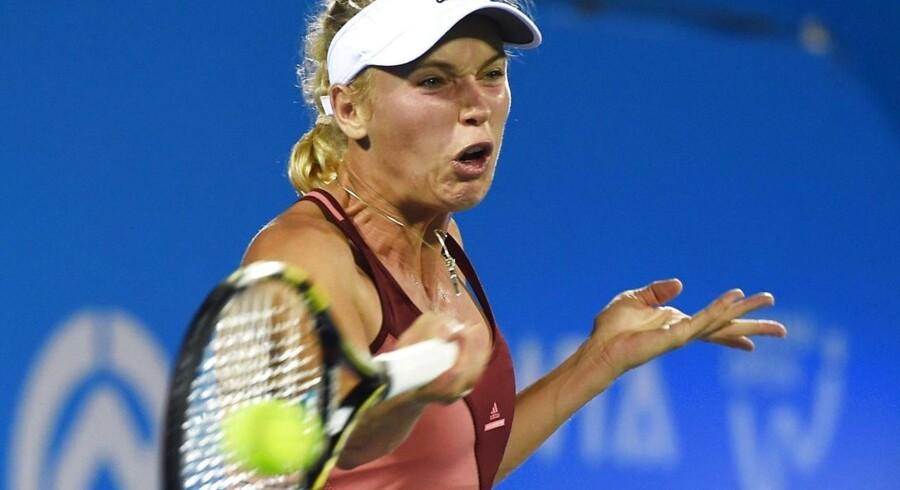 Caroline Wozniacki er klar til semifinalen ved Wuhan Open i Kina.