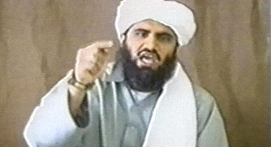 Arkivfoto. Suleiman Abu Ghaith på et stillbillede fra en udateret video.