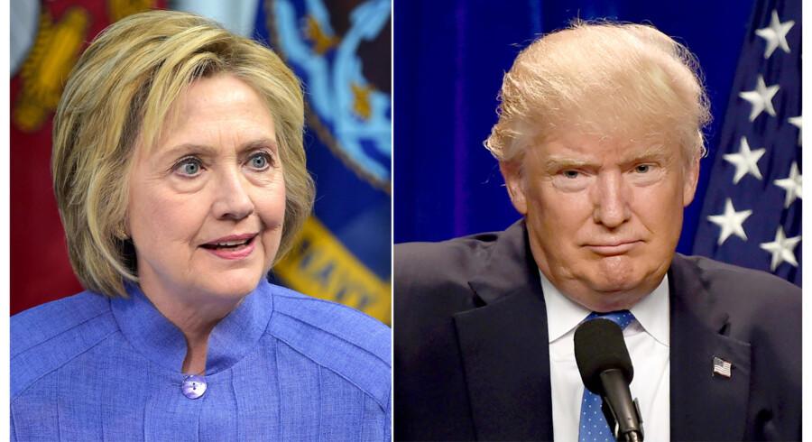 Søgelyset retter sig nu mod Hillary Clinton og Donald Trumps private formuer. Foto: AFP