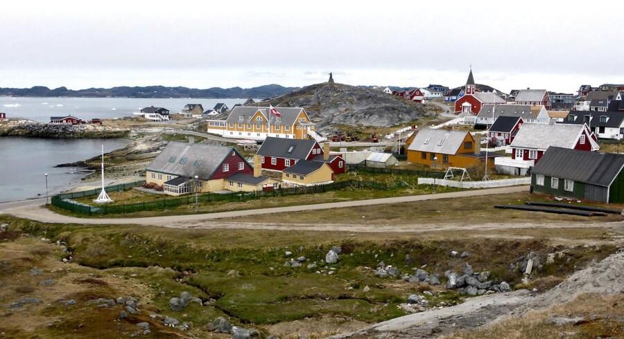 Arkivfoto. Fire meldt savnede i Grønland efter at en flodbølger og kraftige oversvømmelser, der er formentlig udløst af et kæmpemæssigt skred på et fjeld, ramte en bygd med omkring 100 indbyggere.