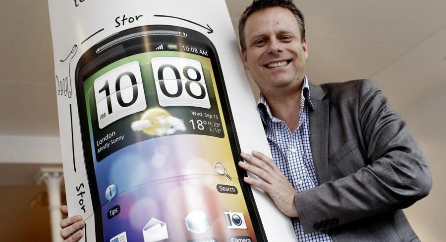 Peter Frølund har i næsten ti år kæmpet for at gøre HTC til foretrukken mobiltelefon i Danmark. Nu skal han koncentrere sig om Storbritannien og Irland. Arkivfoto: Jeppe Michael Jensen, Scanpix