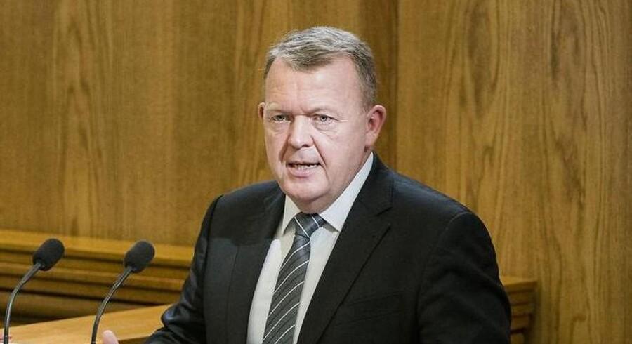 Statsminister Lars Løkke Rasmussen under hans åbningstale ved Folketingets åbning, tirsdag 3. oktober.