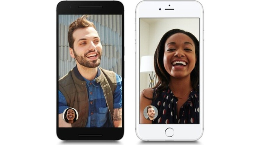 Google Duo virker på Android- og iOS-telefoner og er beregnet til videosamtaler mellem to personer. Man behøver ikke at oprette sig som bruger for at være. Foto: Google