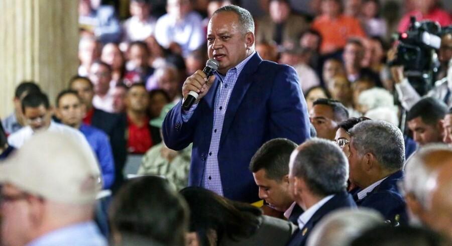 """Næstformanden for det regerende Socialistparti, Diosdado Cabello, meldte i første omgang om et """"terrorangreb"""" i byen, der er Venezuelas tredjestørste."""