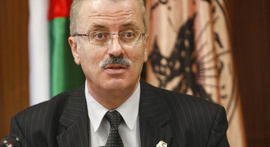Rami al-Hamdallah, palæstinensisk regeringschef, forsøger at forsone Fatah og Hamas.