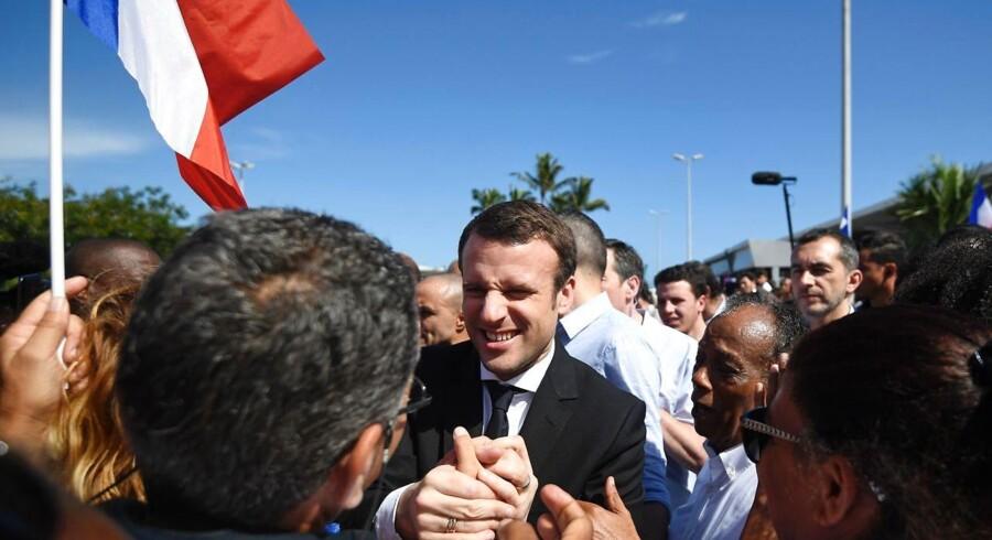 Arkivfoto: Centrumpolitikeren Emmanuel Macron ventes stadig at vinde det franske præsidentvalg klart, viser en ny meningsmåling tirsdag.