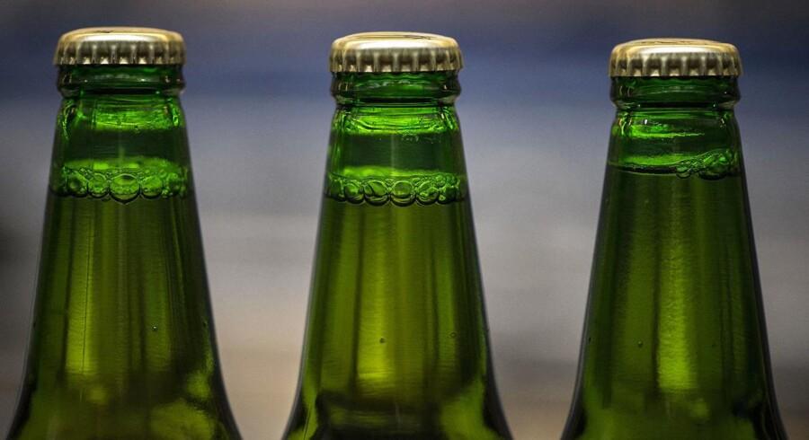 Treenigheden er den belgiske munkeøl Grimbergen, amerikanske Brooklyn og franske Blanc 1664. I Danmark er sidstnævnte skiftet ud med husbryggeriet Jacobsens produkter. De er alle i det ølsegment, som Carlsberg kalder superpremium. Arkivfoto.
