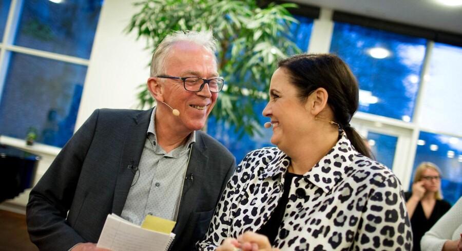 SF landsmøde i Vingsted 16.4.2016. Villy Søvndal holder festtalen lørdag aften. Pia Olsen Dyhr og Villy Søvndal.
