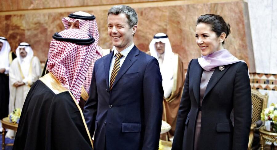 Saudi-Arabien henrettede fem personer den sidste dag kronprinseparret var på besøg i landet. (Foto: KHAN TARIQ MIKKEL/Scanpix 2016)