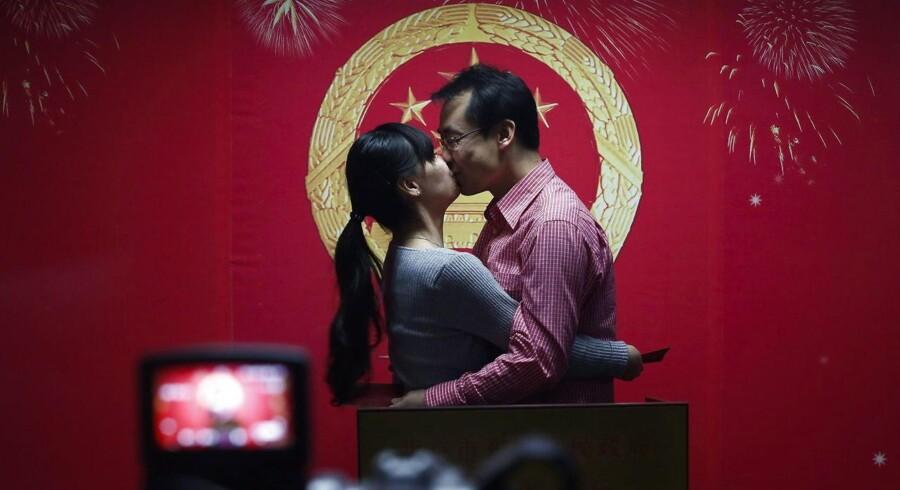Der er kamp om kærligheden i Kina, hvor der er et stort overskud af mænd i den giftemodne alder. Arkivfoto: Scanpix