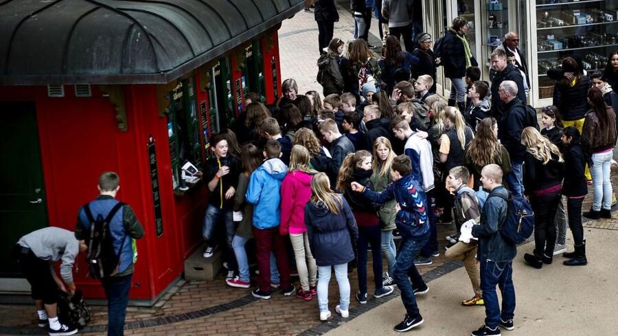 Arkiv: Elever trodser ledelsen - tager til Blå Mandag selv om de ikke har fået fri.