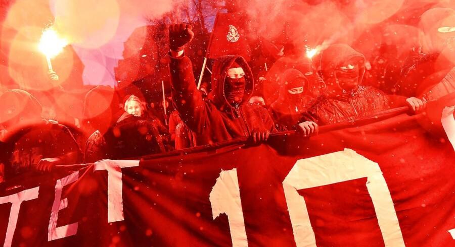 Ungdomshuset i København afholdte onsdag den 1. marts 2017 en demonstration, der bevægede sig fra Vor Frue Plads mod Nørrebro i anledning af 10-året for rydningen af Ungdomshuset på Jagtvej 69. Demonstrationer førte til omfattende uroligheder, og politiet anholdte adskillge personer. Fem er nu blevet anklaget for blandt andet hærværk og vold.