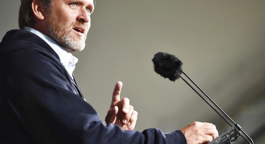 Liberal Alliances partiledertale ved Anders Samuelsen fotograferet på Folkemødet 2016.