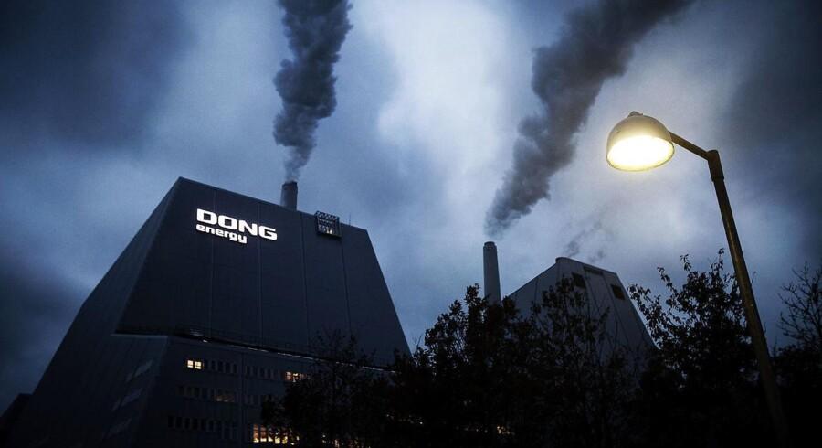 Mandag aften klokken 19.02 sendte Dong Energy en meddelelse til fondsbørsen. Det Goldman Sachs ejede New Energy Investment satte 8.8 millioner aktier i Dong til salg. Bare to timer senere øgede Goldman Sachs udbuddet. Foto: Jeppe Bjørn Vejlø/Scanpix 2017