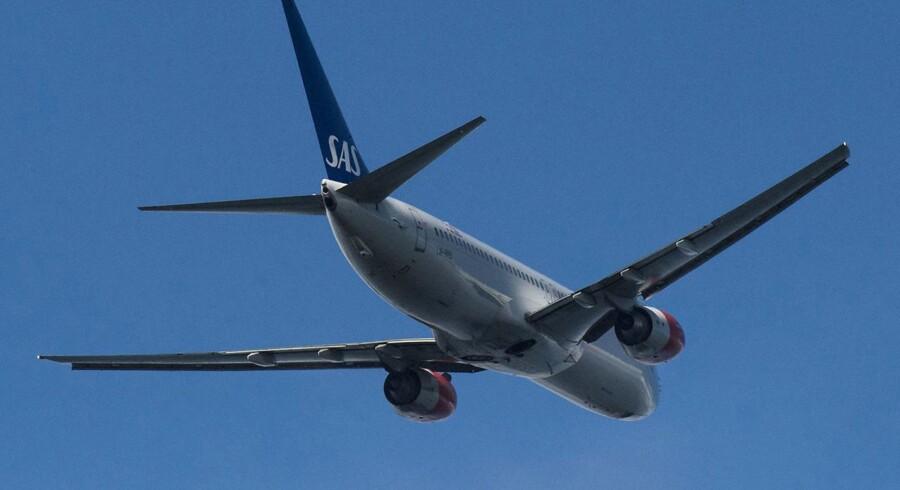 Flyselskabet SAS kaster i de kommende år en halv mia. svenske kr. efter en stor opgradering af digitaliseringen ombord på selskabets fly. (Foto: Søren Bidstrup/Scanpix 2015)