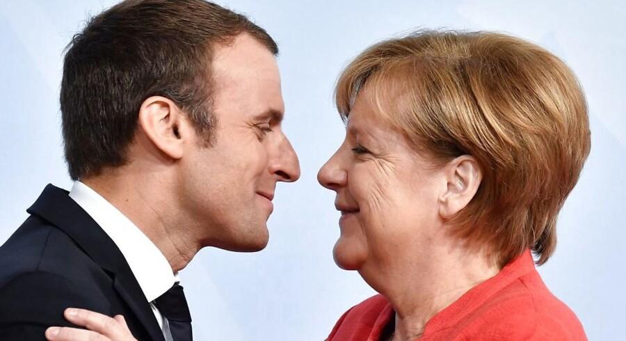 Frankrigs præsident Emmanuel Macron og Tysklands kansler Angela Merkel er ved at skabe en ny, stærk akse i Europa.