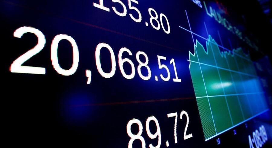 Arkivfoto: Det danske aktiemarked åbner overvejende med marginale fald tirsdag, hvor der blandt andet er fokus på Jyske Bank og NKT, der begge er kommet med regnskab.
