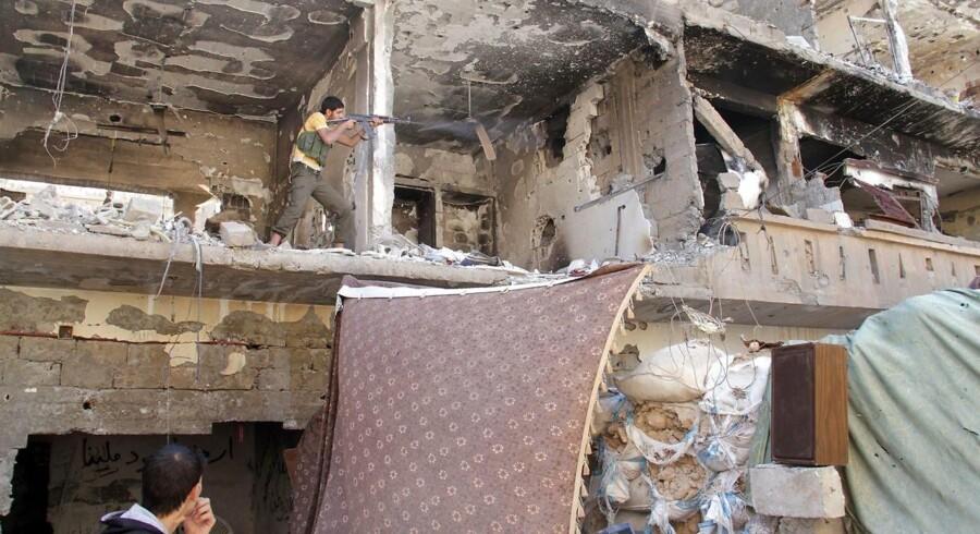 ARKIVFOTO: Kampe i byen Albu Kamal tilbage i 2013