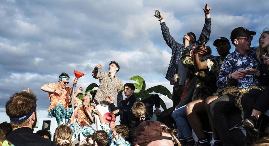 Campstemning på Roskilde Festival 2017.