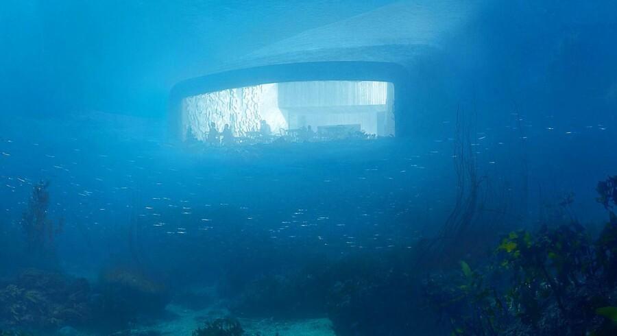Restauranten »Under« udefra.