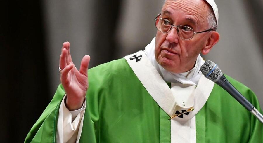 Pave Frans kalder alle, der betvivler de menneskeskabte klimaforandringer, for dumme.