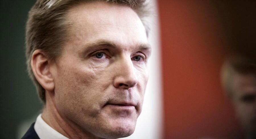 Kristian Thulesen Dahl ankommer til statusmøde med blå blok i Statsministeriet torsdag d. 14. december 2017.