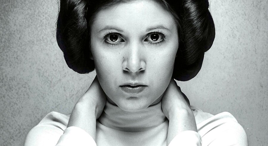 Prinsesse Leia spillet af Carrie Fisher Star Wars Episode IV - A New Hope (1977). Foto: CAP/PLF,  Capital Pictures
