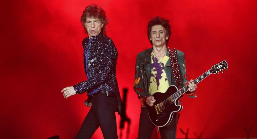 "Mick Jagger and Ron Wood of the Rolling Stones performs during a concert of their ""No Filter"" European tour at Lluis Companys Stadium in Barcelona, Spain, September 27, 2017. REUTERS/Albert Gea"