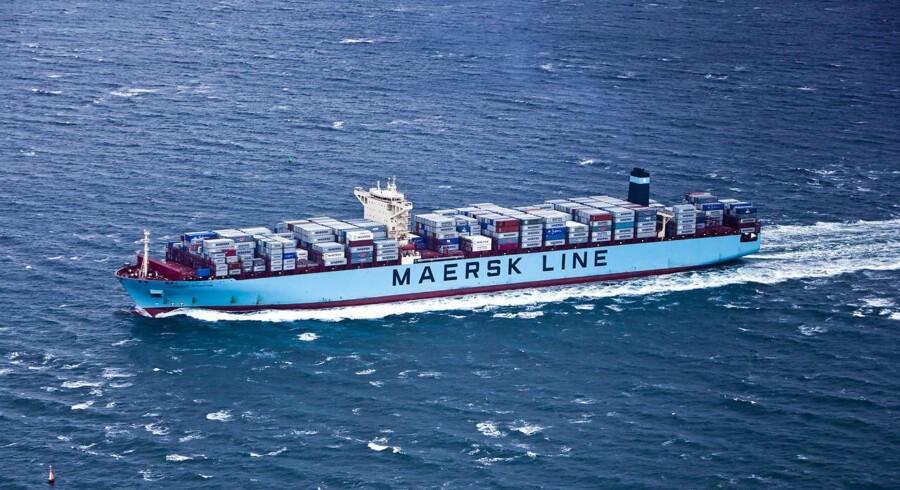 (ARKIV) Containerskib fra Mærsk, Maersk Line, den 11. december 2012. (Foto: Asger Ladefoged/Ritzau Scanpix)
