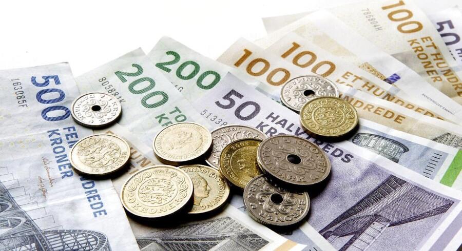 ARKIVFOTO: Danske penge. Pengesedler og mønter.