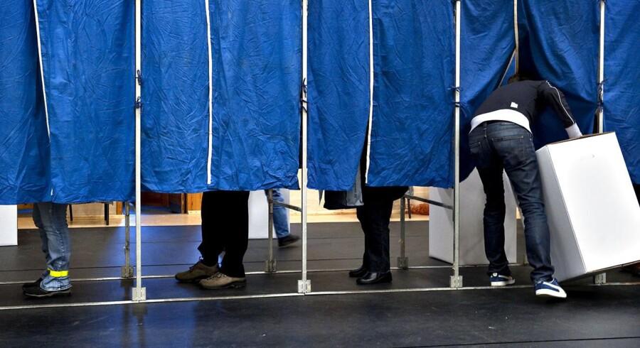 Digitale problemer har ramt flere af landets valgsteder, som er skyld i, at valgkortene ikke registreres. Arkivfoto.