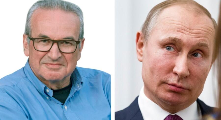 Salmuel Rachlin (tv) Fotobyline: Balazs Veress. Vladimir Putin (th) Fotobyline: ALEXANDER ZEMLIANICHENKO / POOL
