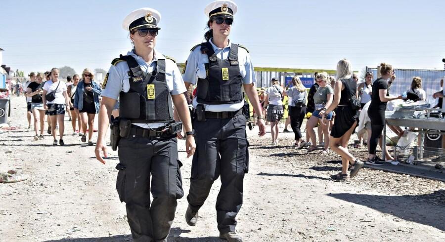 Politiet har fået to anmeldelser om seksuelle overgreb begået på Roskilde Festival (Foto: Jens Nørgaard Larsen/Ritzau Scanpix)