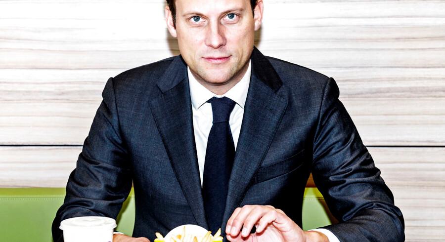 McDonalds øverste danske chef, Joachim Knudsen, fotograferet i McDonalds på Jyllingevej torsdag den 8. december 2016.