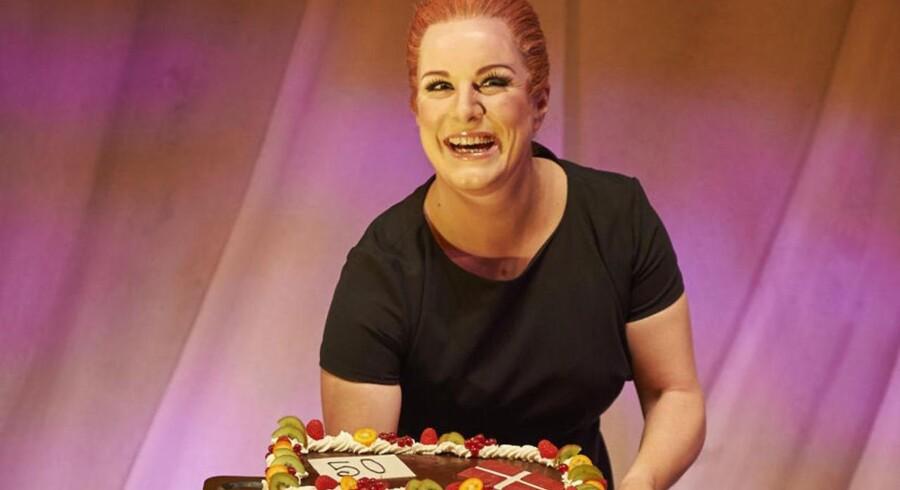 Lise Baastrup som »kagekonen« Inger Støjberg. Foto: Henrik Petit