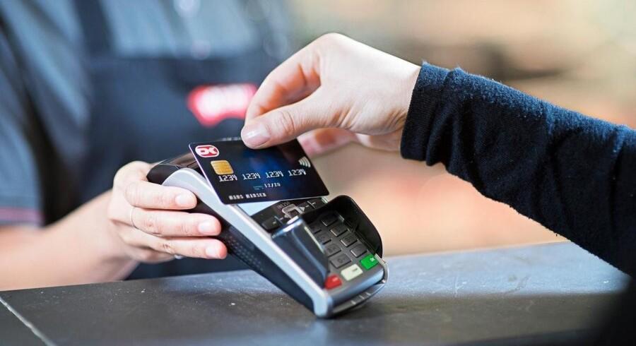 Dankortet blev kørt oftere igennem i januar. (Arkivfoto) Free/Pressefoto, Nets