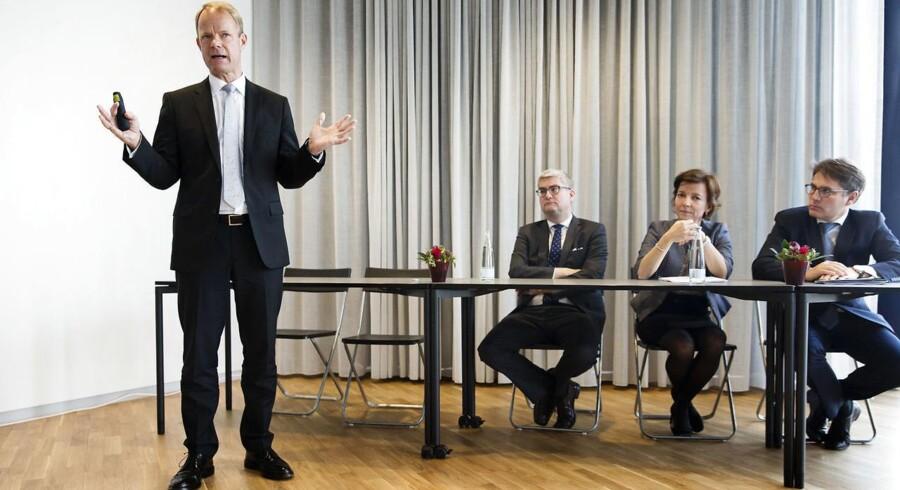 Formand for regeringens vækstteam, Kåre Schultz, offentliggjorde i dag teamets anbefalinger til, hvordan der skal skabes vækst i life science-industrien frem mod 2025. Foto: Jens Astrup