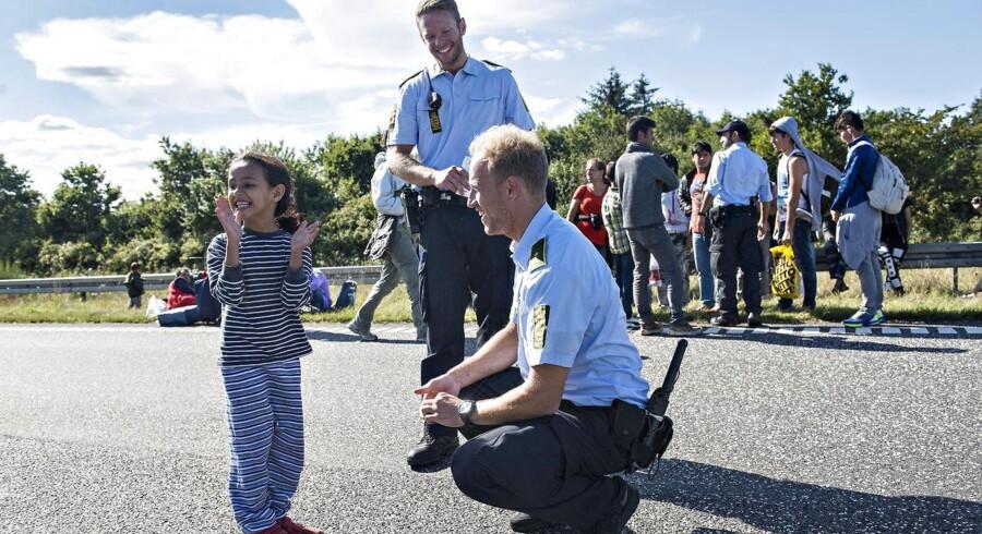 Flygtningestrømmen til Danmark har lagt beslag på meget af betjentenes tid.