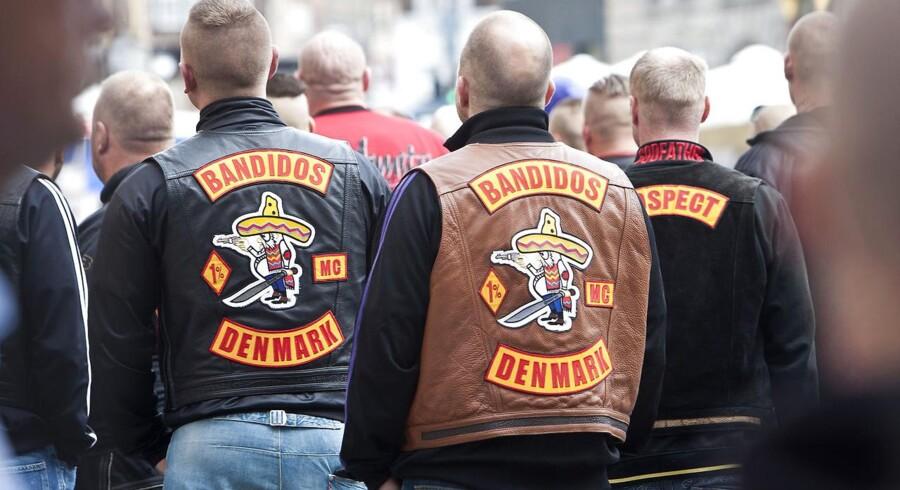 Bandidos-rockere udenfor retten i København.