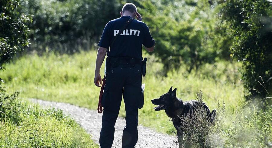 Den dræbte rocker blev fundet i et grønt område ved Ballerup. (Foto: Ólafur Steinar Gestsson/Scanpix 2016).