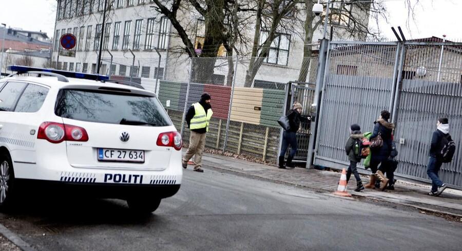 ARKIVFOTO af Carolineskolen i København, hvor Kundby-pigen er tiltalt for at ville begå terror.