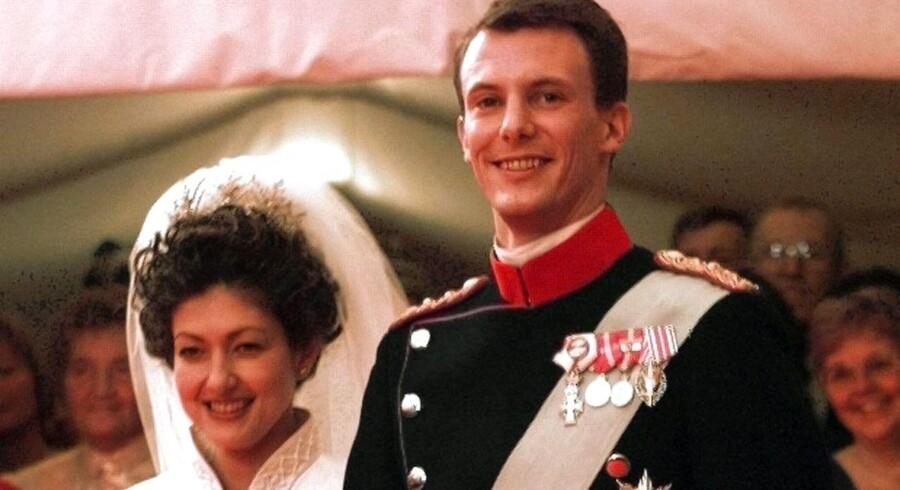 ARKIVFOTO: Prins Joachim og Alexandra ved deres bryllup iFrederiksberg Slotskirke.