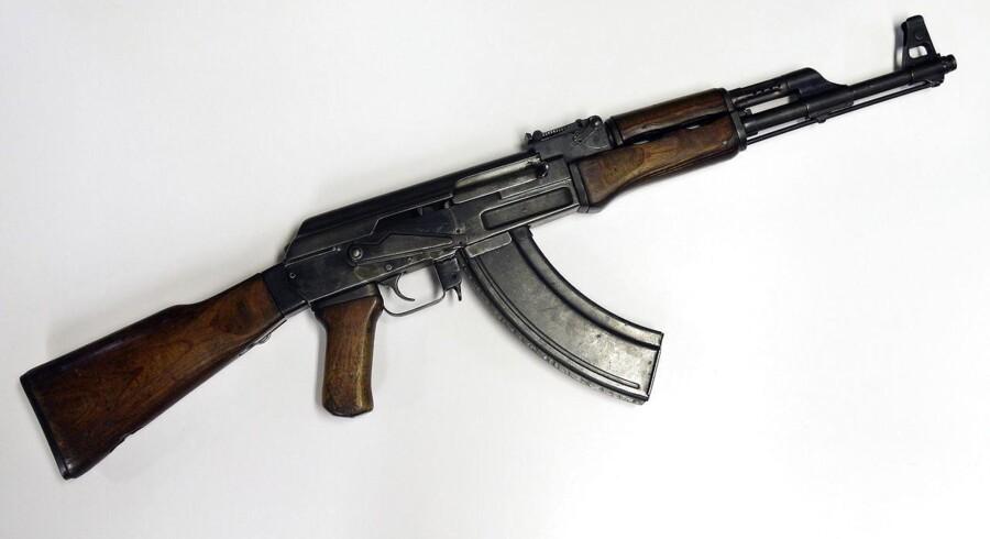 Her en Kalashnikov - eller bare AK-47.