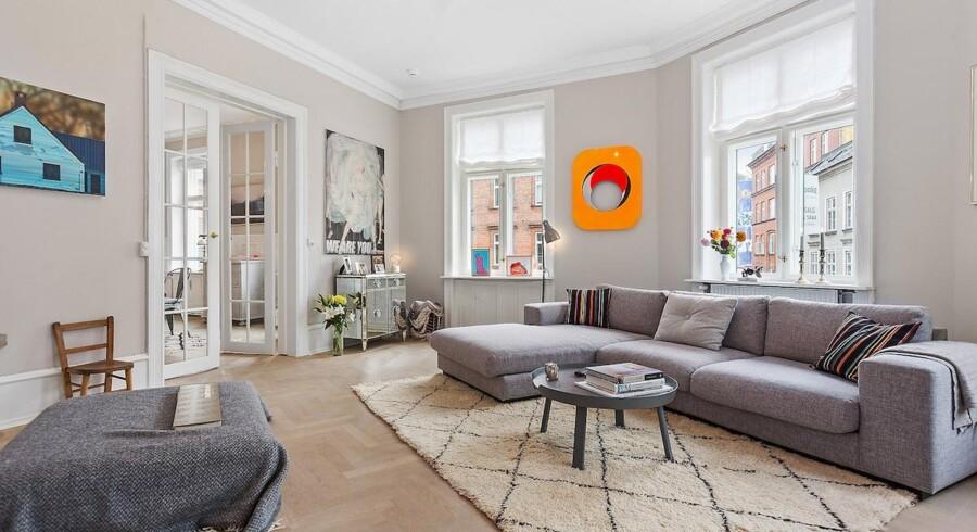 Lejligheden er i alt på 171 kvadratmeter med fem værelser at brede sig på. Foto: Holm & Hauberg BoligCenter Nørrebro.