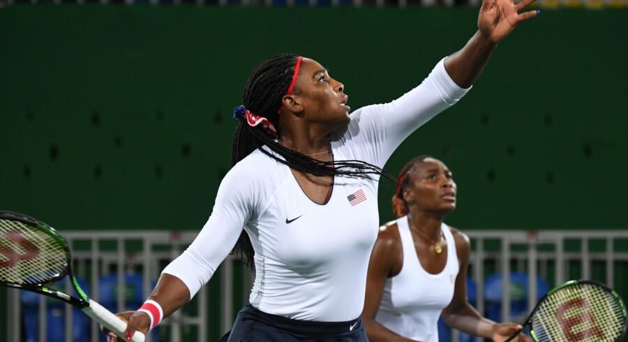 Amerikanske sportsfolk - heriblandt Venus og Serena William- leverede en flot, men ikke fair præstation under OL i Rio de Janeiro, påstår russisk hackergruppe. Scanpix/Martin Bernetti