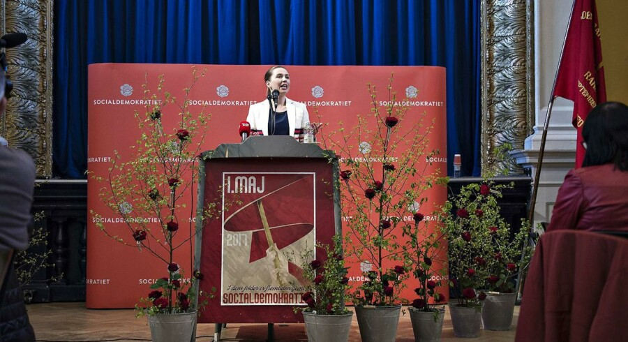 Socialdemokratiets formand Mette Frederiksen i sin 1. maj tale.