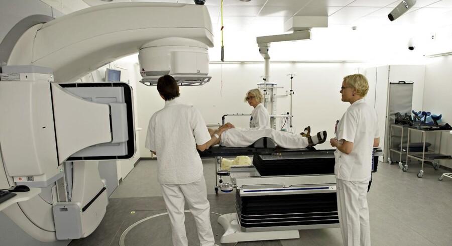 Arkivfoto: Stråle behandling af kræft på Odense Universiteteshospital.