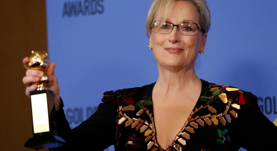 Meryl Streep ved gårsdagens Golden Globe i Calfornien, USA.