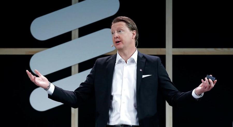 Selv om Hans Vestberg allerede i juli blev fyret som topchef, har svenske Ericsson stadig ikke fundet hans afløser, og der er tilsyneladende ikke nogen topfolk tilbage på bestyrelsens liste. Arkivfoto: Albert Gea, Reuters/Scanpix