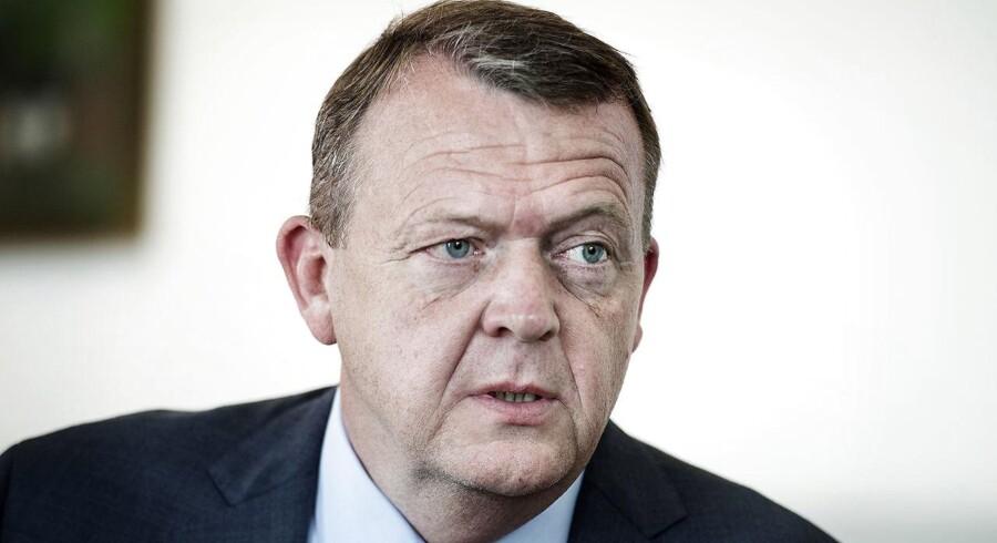 Statsminister Lars Løkke Rasmussen.